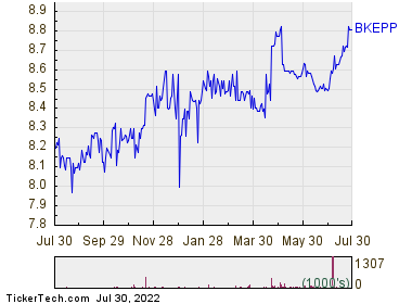 Blueknight Energy Partners LP 1 Year Performance Chart